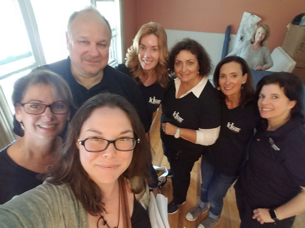 From left, Lisa Aiello, Steve Probst, Katheryn Laible, Sandra Asdourian, Dee Manicone, Ruth Seidenberg and Rosemarie Kluepfel
