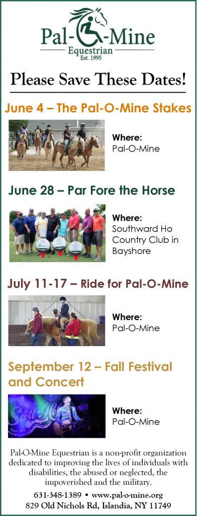 Pal O Mine Events Flyer